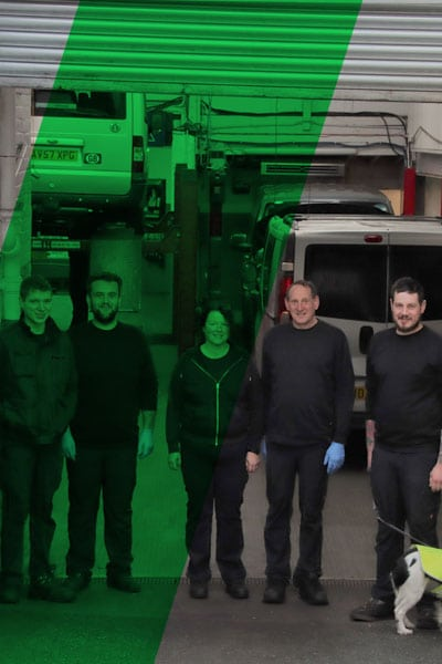 Picture of the staff at Peverell Garage